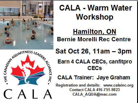 CALA Canadian Aquafitness Leaders Alliance Inc  CatchTheWave Water